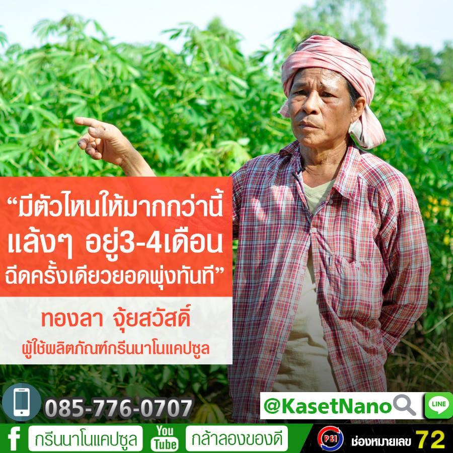 กรีนนาโน ช่วยให้พืชแข็งแรงใบเขียวอีกครั้ง